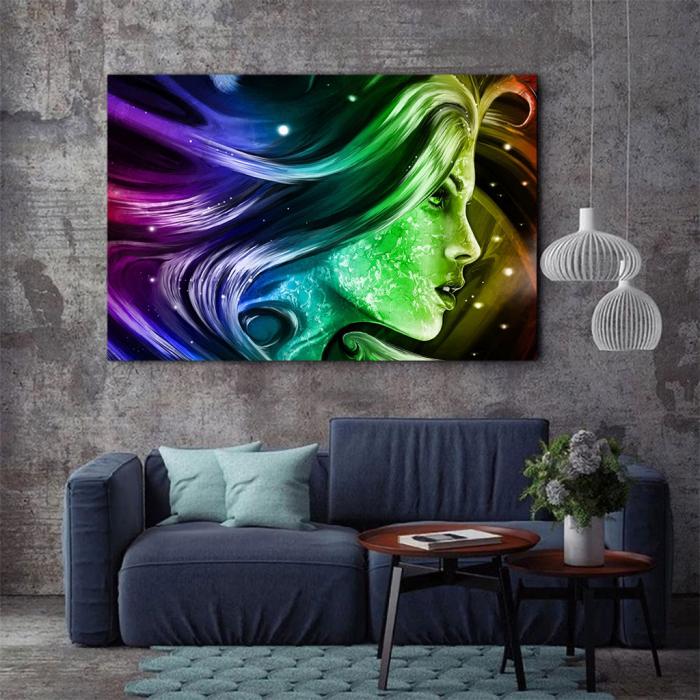 Tablou Canvas - Rainbow girl 2