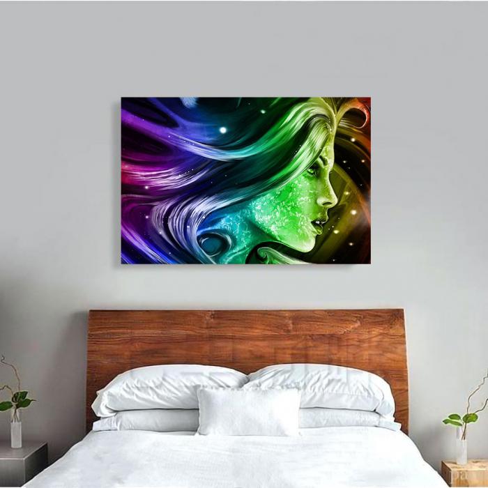 Tablou Canvas - Rainbow girl 3