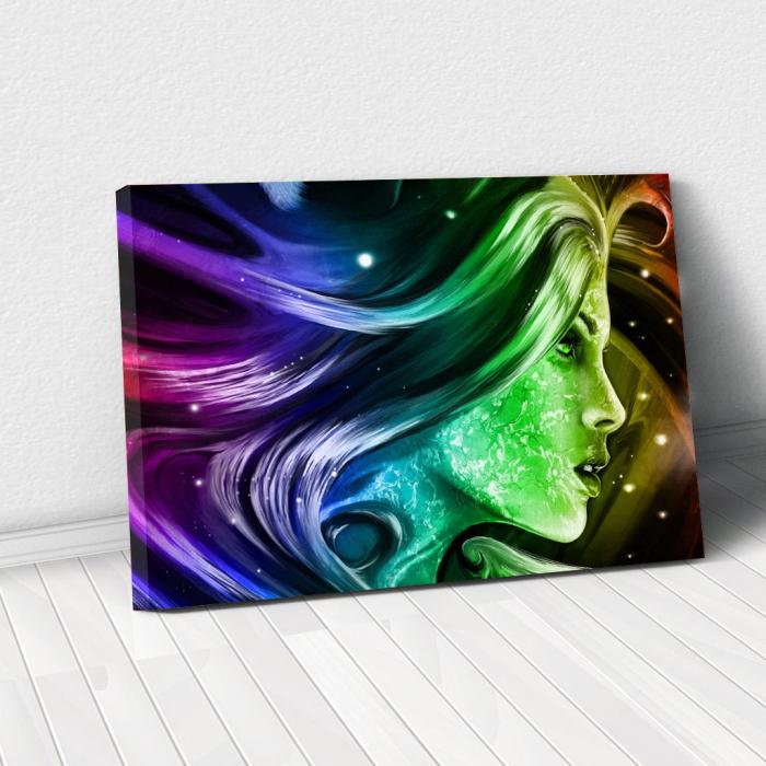 Tablou Canvas - Rainbow girl 0