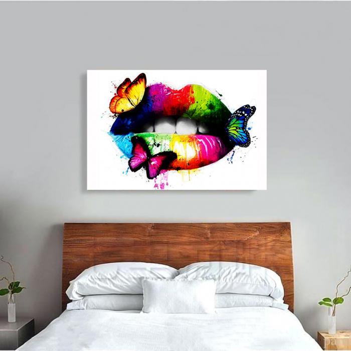 Tablou Canvas - Lips Multicolor 3