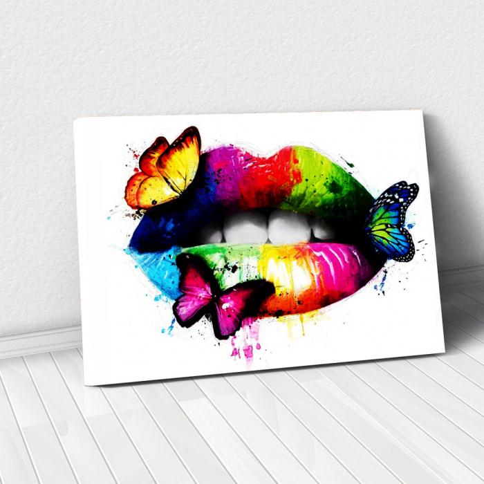 Tablou Canvas - Lips Multicolor 0