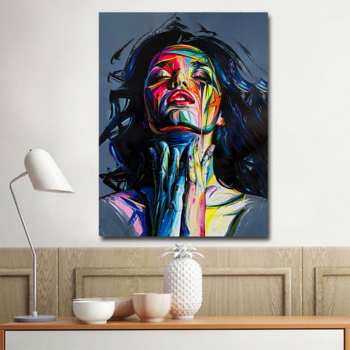 Tablou Canvas - Painted girl art 3