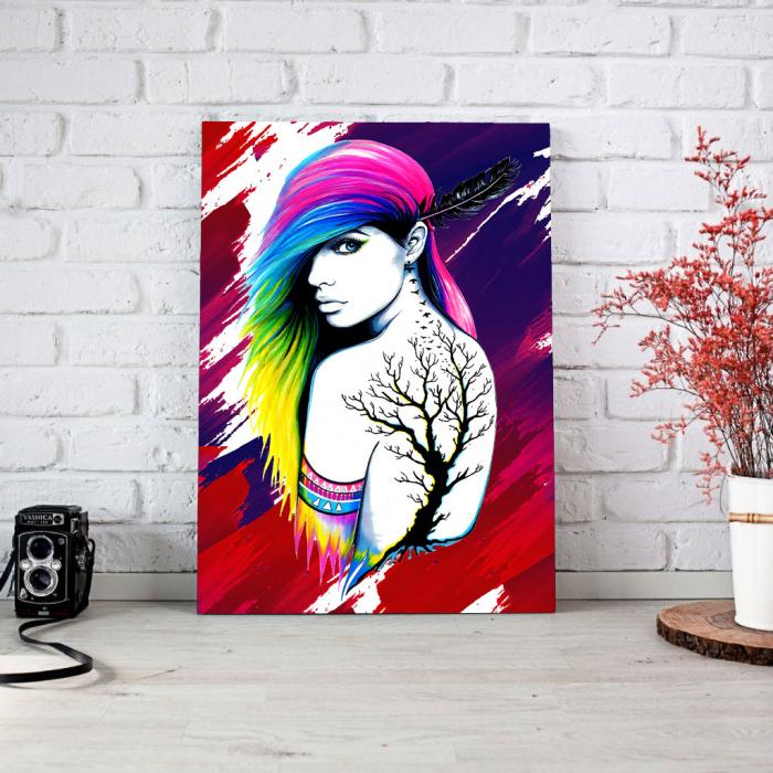 Tablou Canvas - Tattoo creativ 1