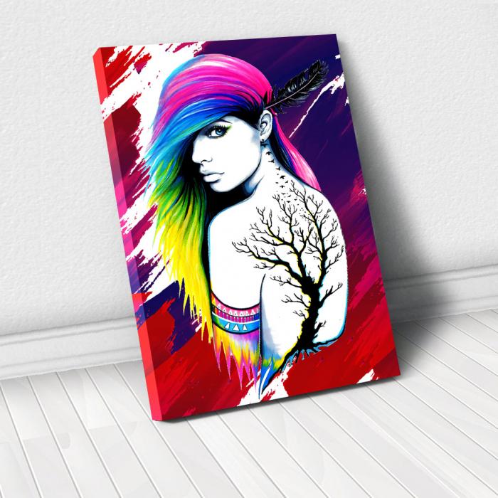 Tablou Canvas - Tattoo creativ 0