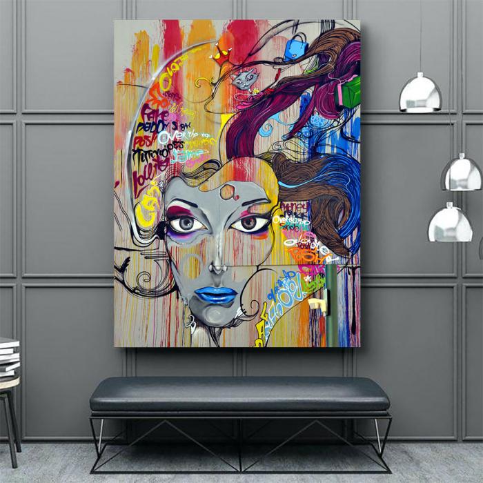 Tablou Canvas - Graffiti portret 3
