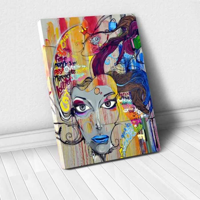 Tablou Canvas - Graffiti portret 0