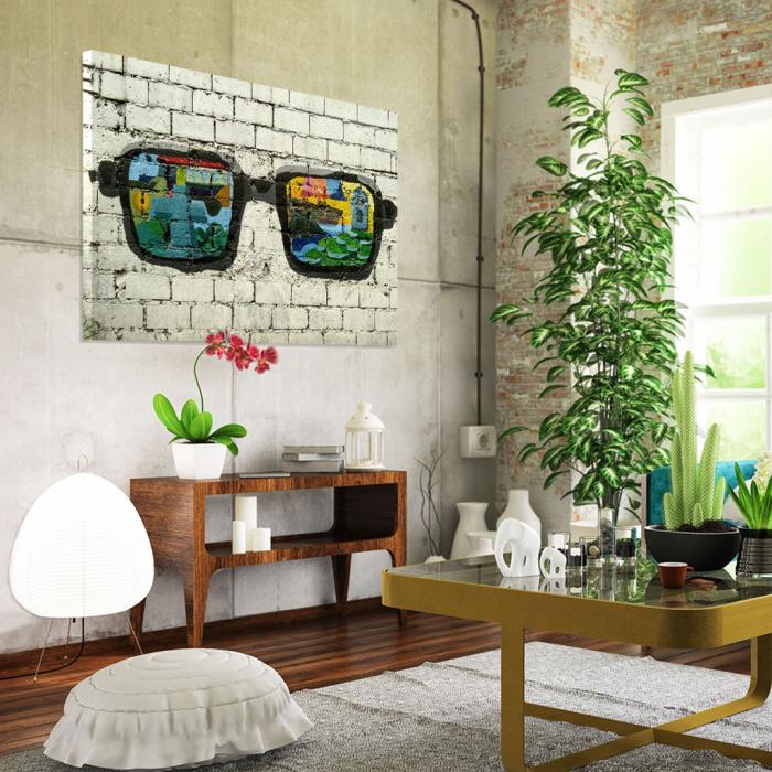 Tablou Canvas - Grafitti glasses 1