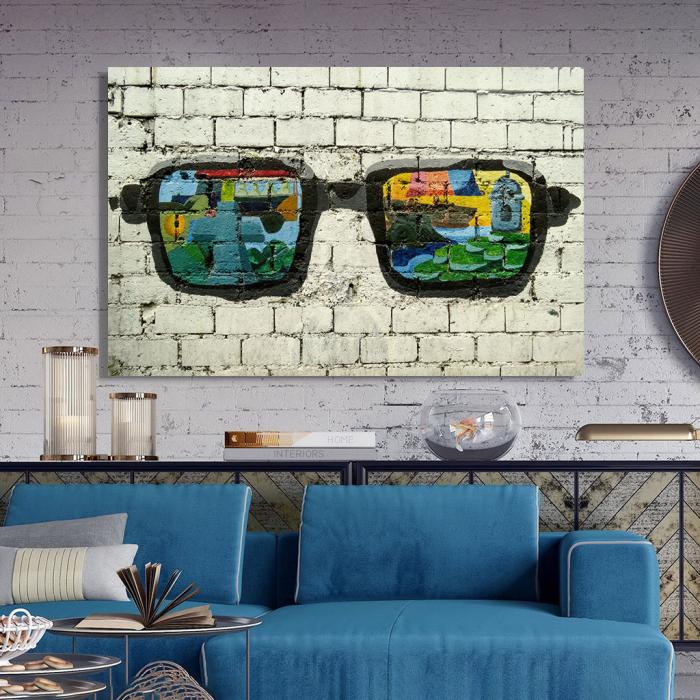 Tablou Canvas - Grafitti glasses 2