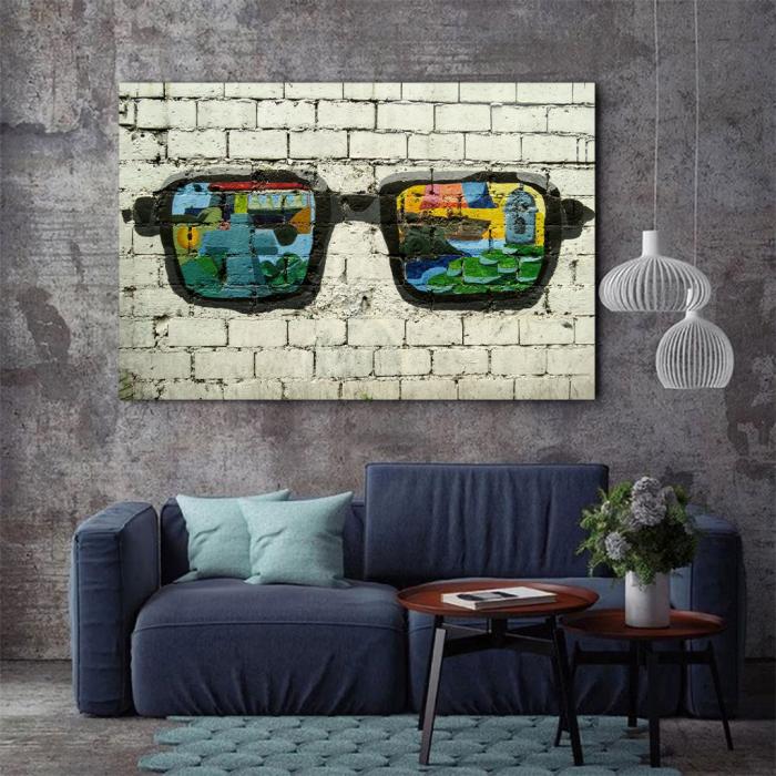 Tablou Canvas - Grafitti glasses 3