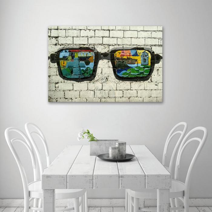Tablou Canvas - Grafitti glasses 4