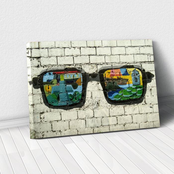 Tablou Canvas - Grafitti glasses 0