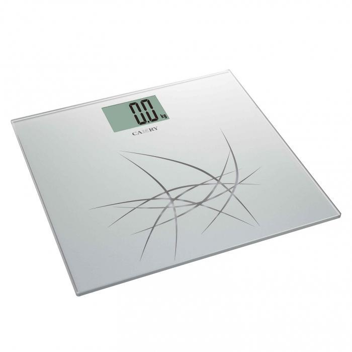Cântar electronic pentru baie, sticlă securizată, LCD, 150 kg 0