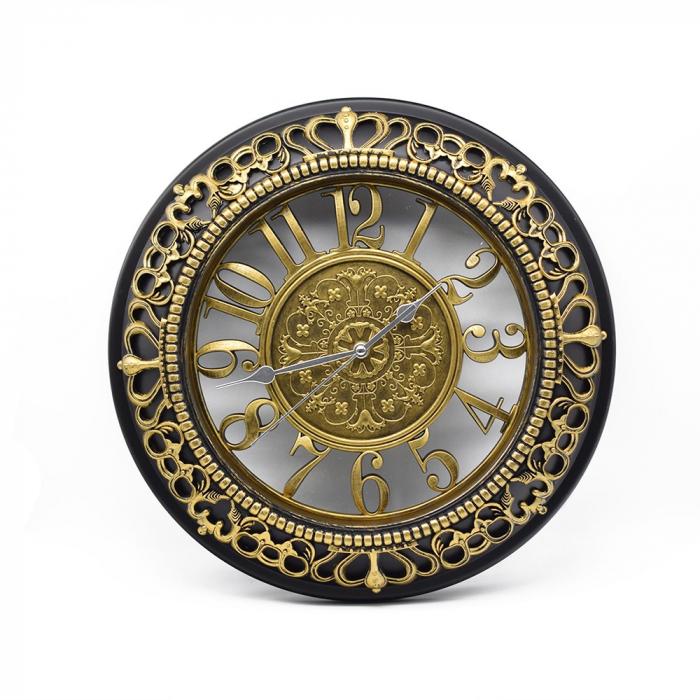Ceas de perete, din plastic / sticlă, 45 x 42 x 5.5 cm 0