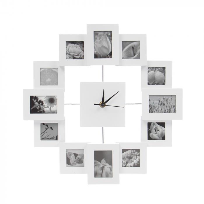 Ceas de perete cu 12 rame foto 0