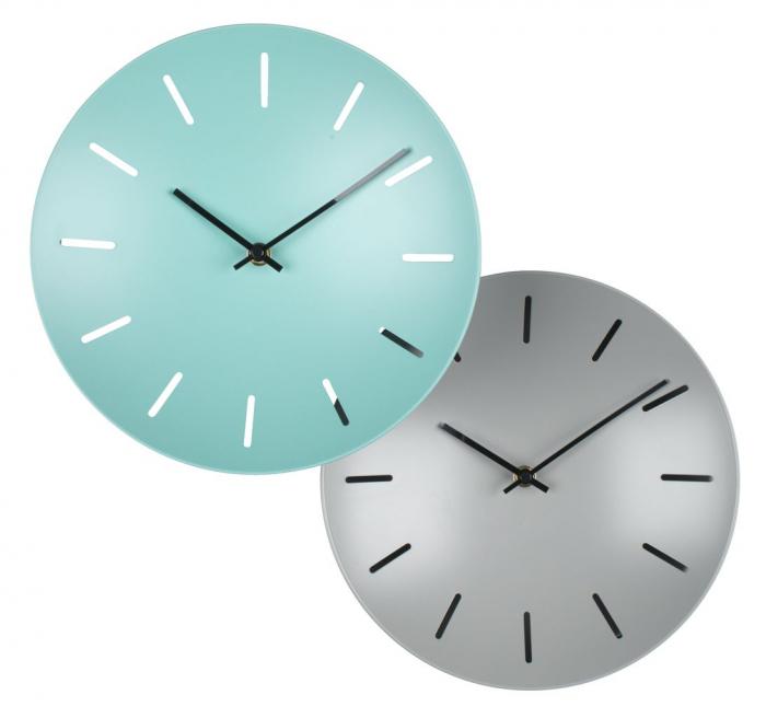 Ceas de perete, analog, rotund, din plastic - 25cm [0]