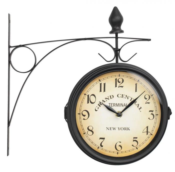 Ceas de perete, analog, rotund, metal  21cm 0