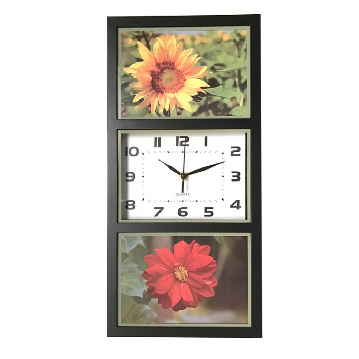 Ceas de perete, analog, din plastic, dreptunghiular - 40cm [0]