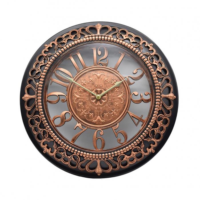 Ceas negru & auriu de perete 45cm [0]