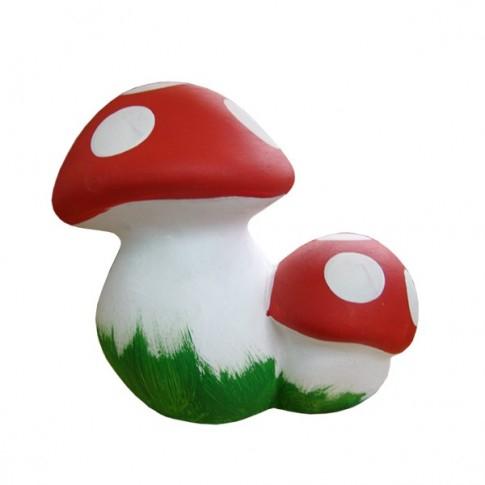 Statuetă ciupercă pereche de grădină 16 cm 0