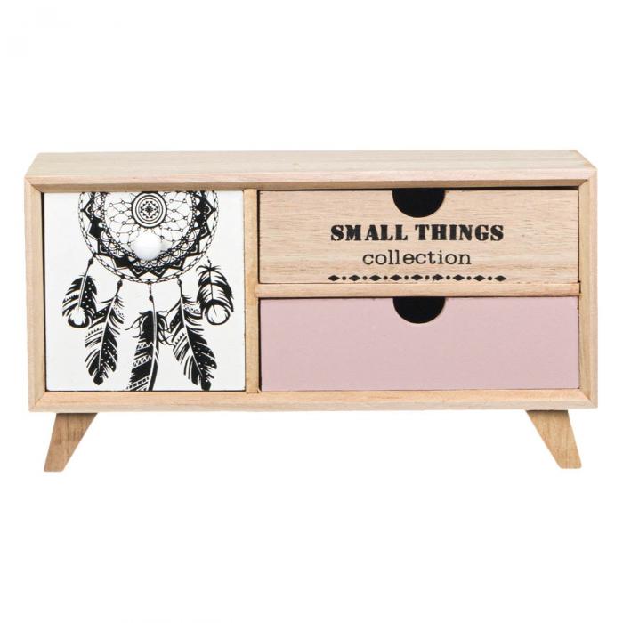 Comodă decorativă din lemn cu 3 sertare [1]
