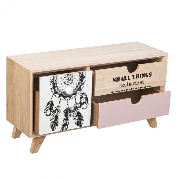 Comodă decorativă din lemn cu 3 sertare [2]