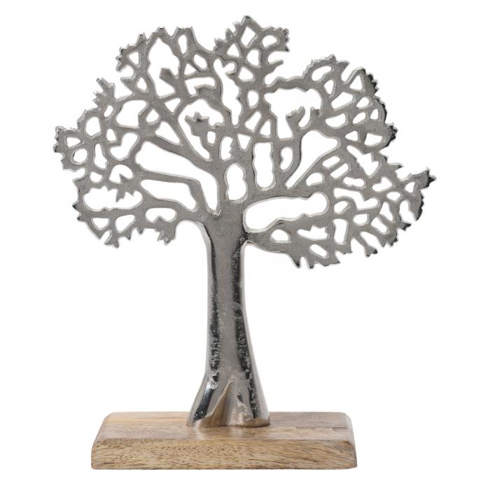 Copac decorativ din aluminiu pe bază de lemn, 26cm 0