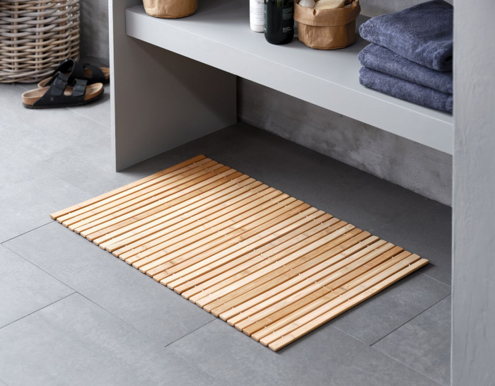Covor de baie din bambus 50x80cm 1