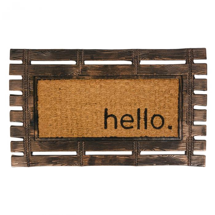 """Covor de usa - exterior Mesaj """"Hello"""" 75x45 cm [0]"""