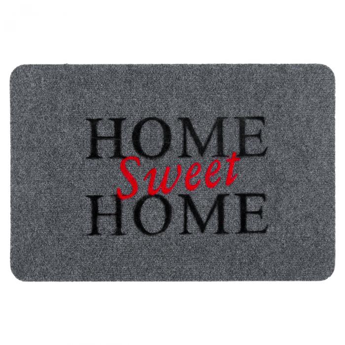"""Covor de usa Gri """"Home Sweet Home"""" 60x40 cm 0"""