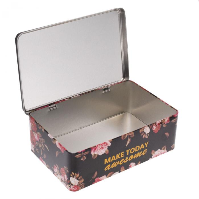 Cutie de depozitare din metal cu flori 1,82 lt [1]