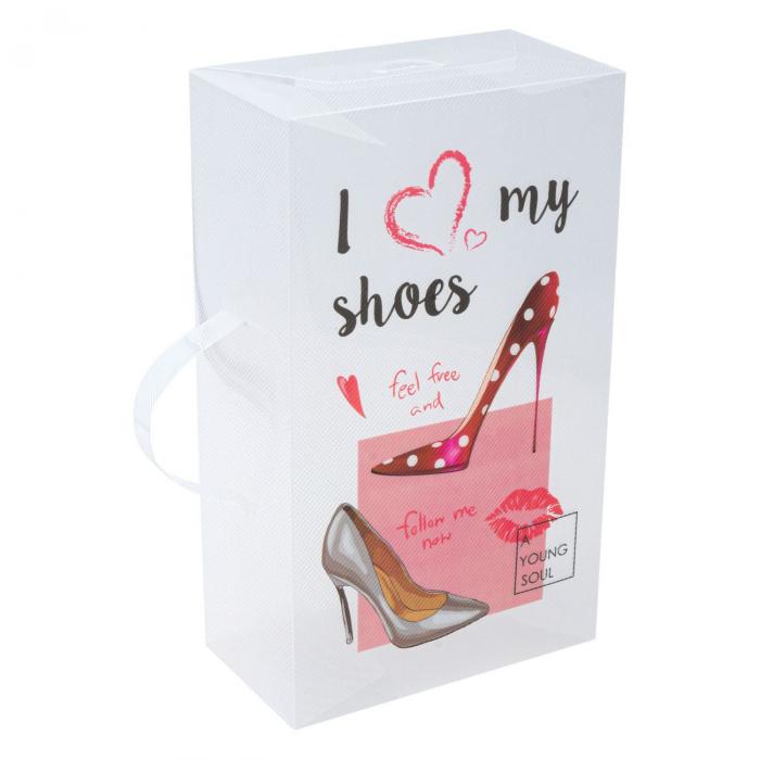 Cutie pentru depozitare pantofi pentru femei cu mâner-18x10x30.5 cm [2]