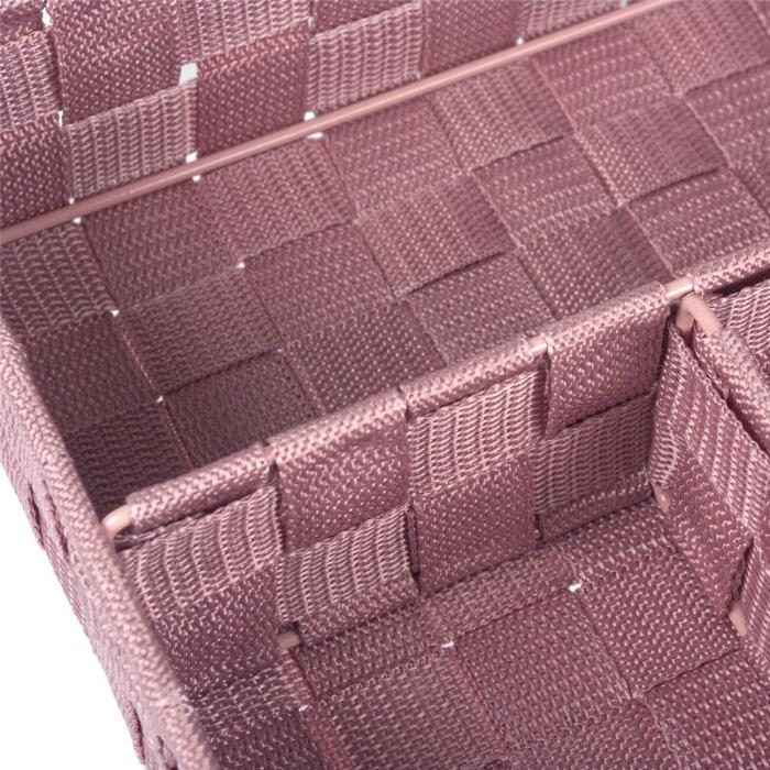 Cutie roz tricotată-4 locuri depozitare-33x24x7 cm 1