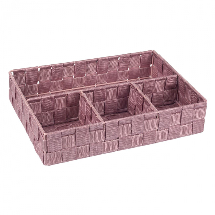 Cutie roz tricotată-4 locuri depozitare-33x24x7 cm 0