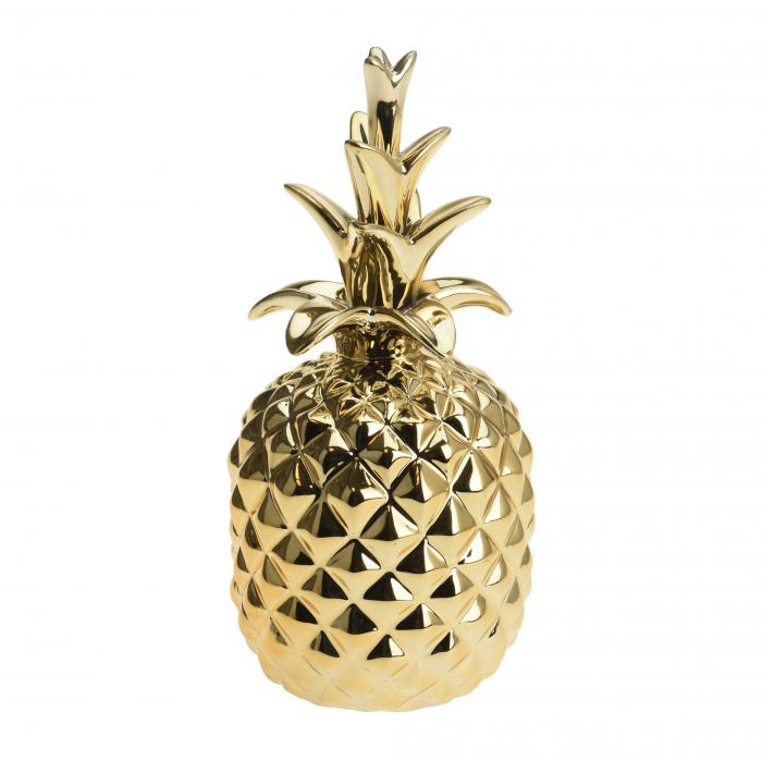 Decorațiune ananas auriu din ceramică.19 cm 0