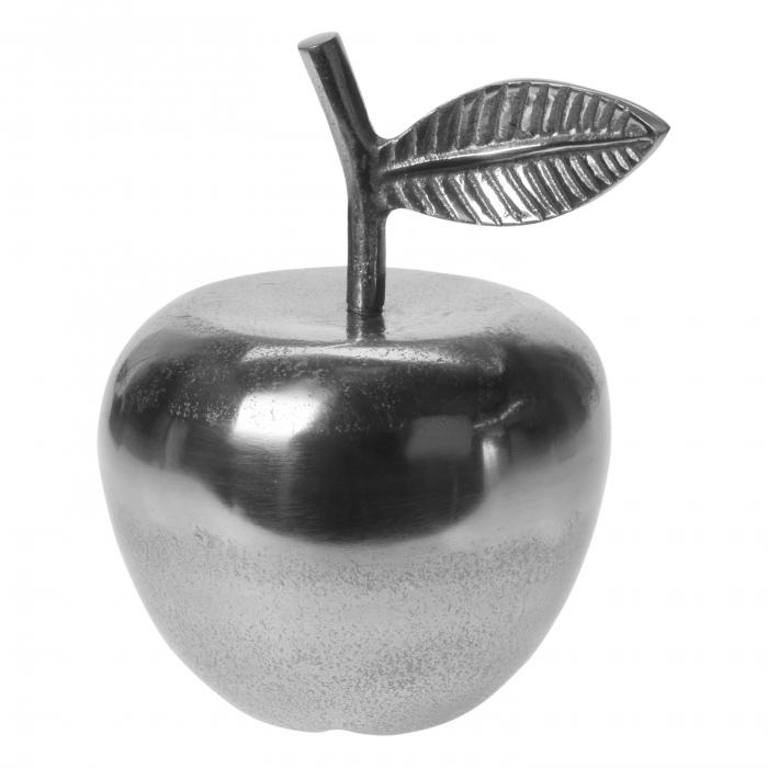 Decorațiune măr, aluminiu, argintie, 11 x 9 x 15 cm 0
