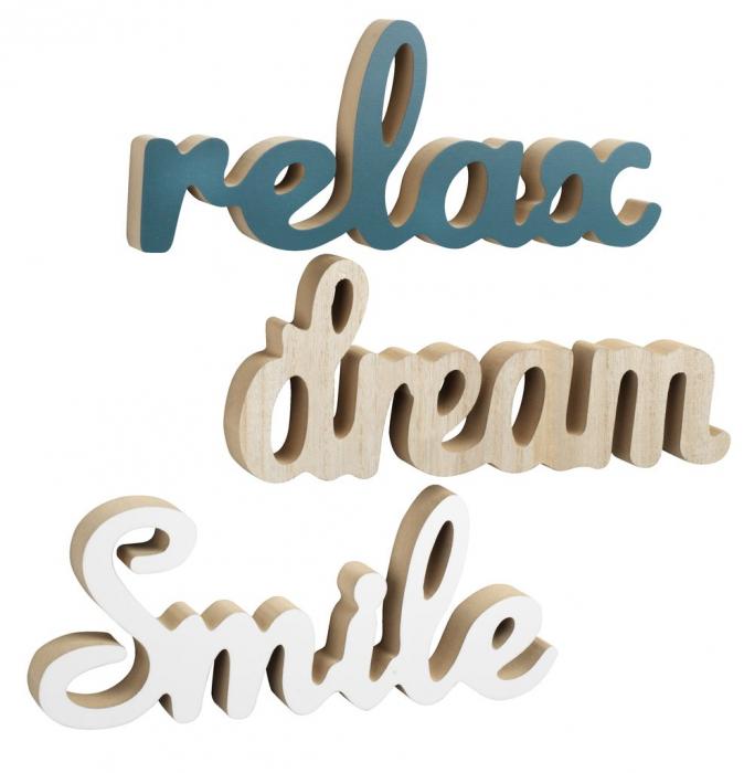 """Decorațiune suspendată """"Relax, Dream, Smile"""" - 30x12cm [0]"""