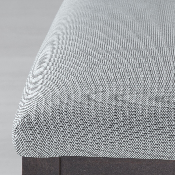 Scaun negru lemn masiv de fag,tapițat. 3