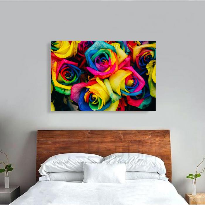 Tablou Canvas - Rainbow Roses 1