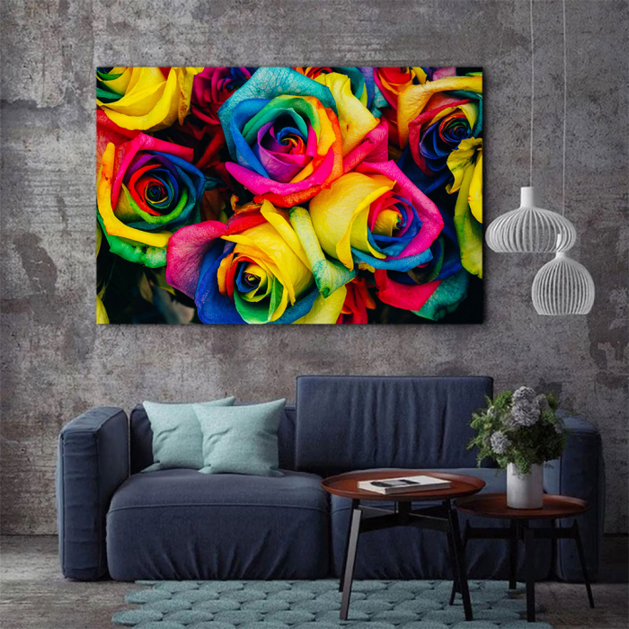 Tablou Canvas - Rainbow Roses 2