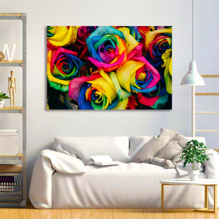 Tablou Canvas - Rainbow Roses 3