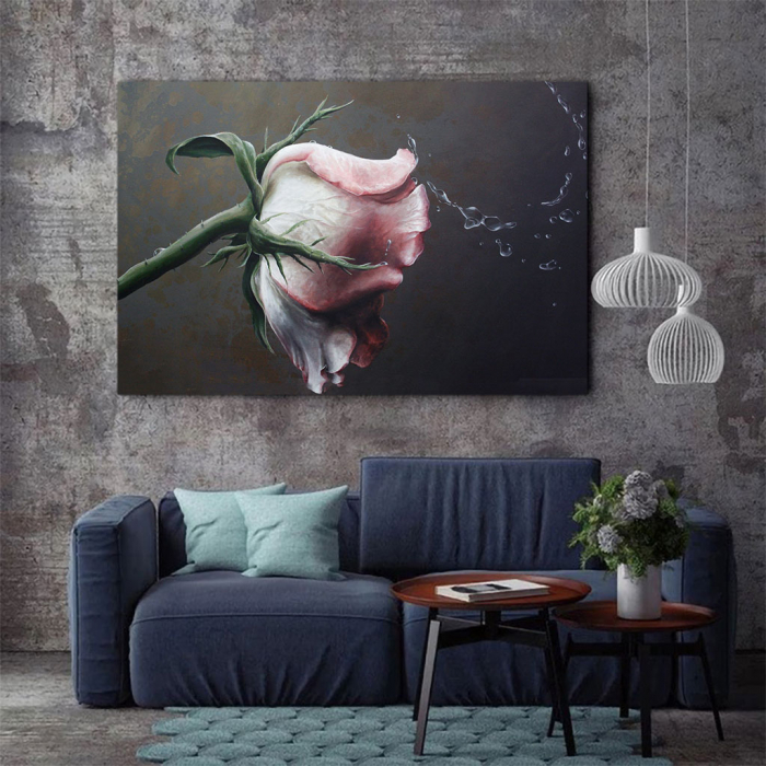 Tablou Canvas - Trandafir Macro 2