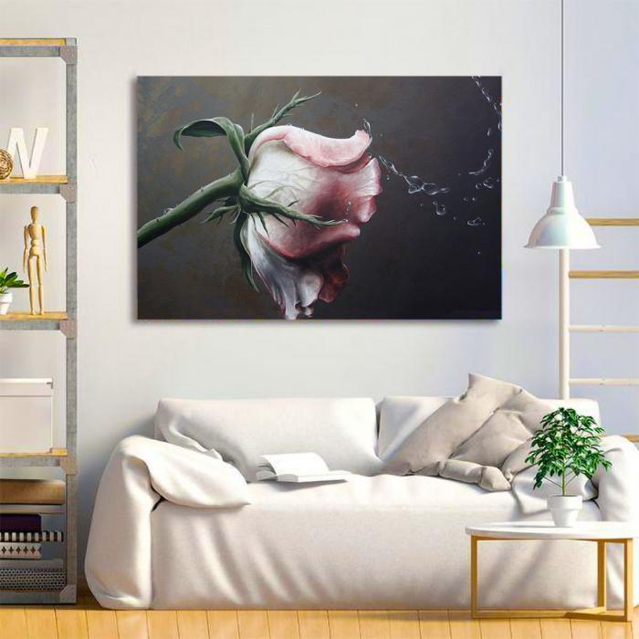 Tablou Canvas - Trandafir Macro 3