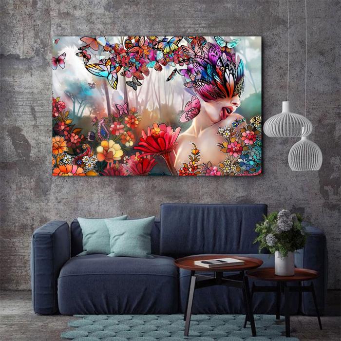Tablou Canvas - Creativitate florala [2]