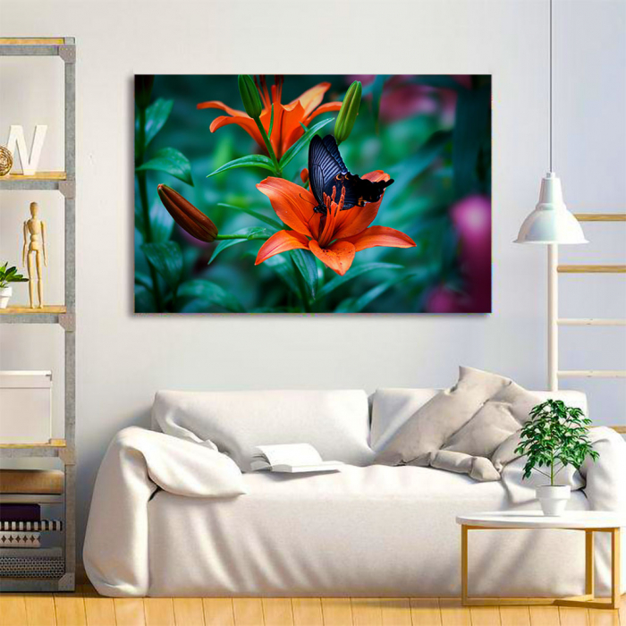 Tablou Canvas - Orange lilies 1