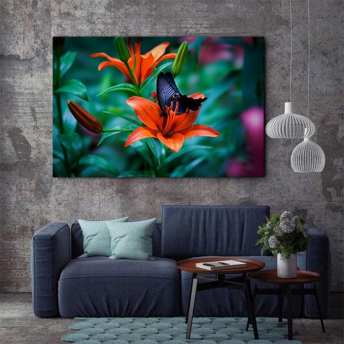 Tablou Canvas - Orange lilies 2