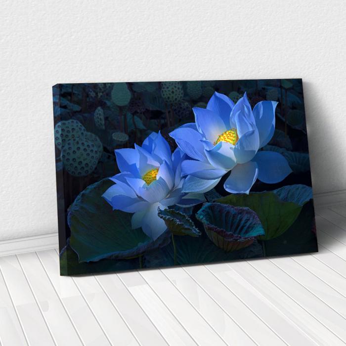 Tablou Canvas - Floral blue 0
