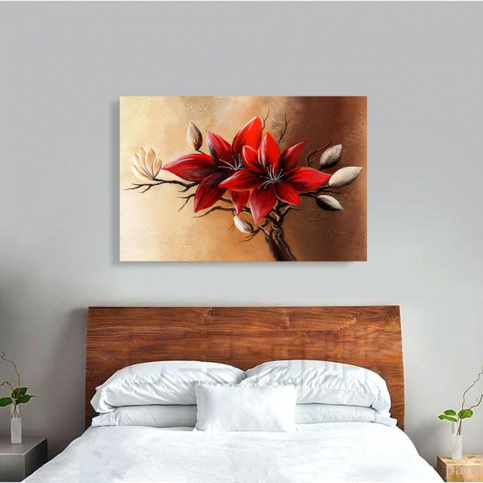 Tablou Canvas - Floral red [3]