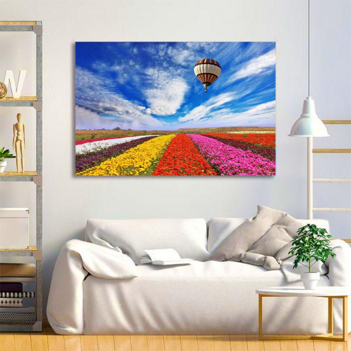 Tablou Canvas - Flowers field 1