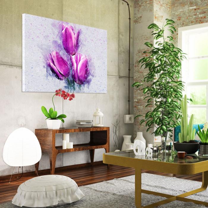 Tablou Canvas -Lalele violet 1