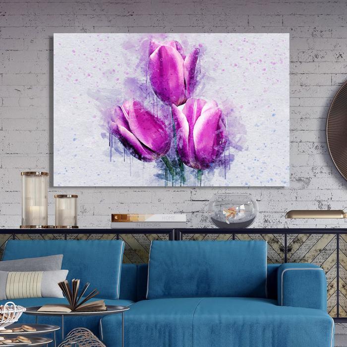 Tablou Canvas -Lalele violet 2